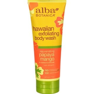 Alba Botanica - Hawaiian Body Wash Exfoliating Papaya Mango ( 2 - 7 FZ)