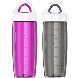 Thermos (2) 24 oz. Eastman Tritan Sport Bottle w/ Covered Straw - Gray/Pink