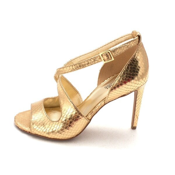 516814ed67a MICHAEL Michael Kors Womens Estee Sandal Leather Open Toe Casual Ankle Strap  .