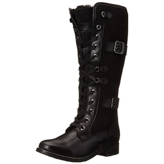 Pajar Womens Cassandra Knee-High Boots Leather Faux Fur