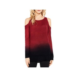 Two by Vince Camuto Womens Pullover Sweater Cold Shoulder Dip-Dye