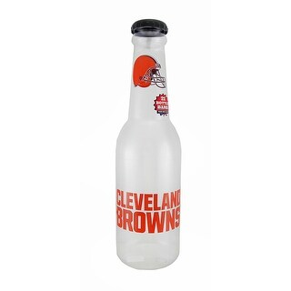 NFL Cleveland Browns Jumbo 21 Inch Tall Bottle Coin Bank - Orange