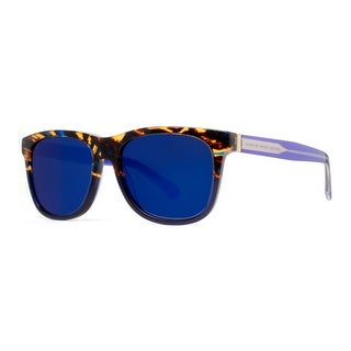 Marc by Marc Jacobs MMJ 360/N/S LJX 1G Havana Brown/Blue Mirrored Sunglasses - Havana Brown - 54mm-17mm-140mm