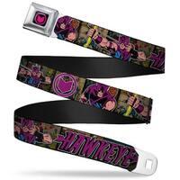 Marvel Comics Hawkeye Arrow Logo Full Color Black Purple Retro Hawkeye Seatbelt Belt
