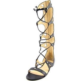 Ivanka Trump Camila Open Toe Leather Gladiator Sandal