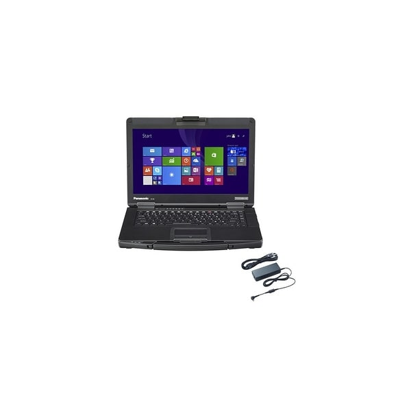 Panasonic CF-54D2902KM with AC Adapter 14-inch Semi-Rugged Laptop