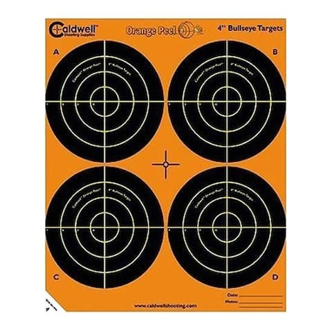 Caldwell 405515 caldwell 405515 orange peel 4 bulls-eye: 5 sheets