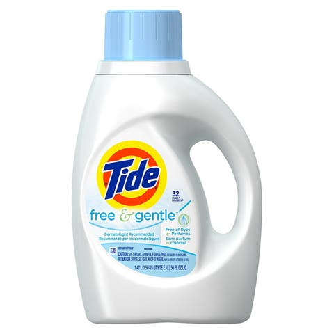 Tide 13885 Free & Gentle Laundry Detergent, 50 Oz