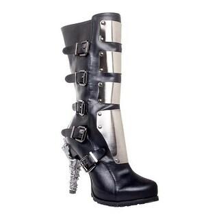 Varga Metal Plated Boot Black