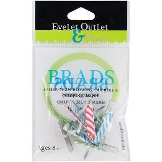 Eyelet Outlet Shape Brads 12/Pkg-Candle