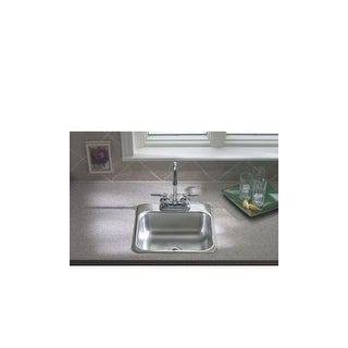 Sterling B155-1 Single Basin Stainless Steel Bar Sink