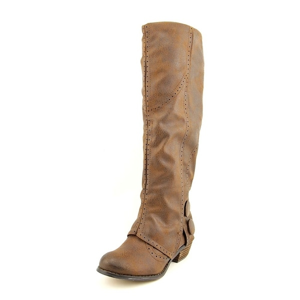 Not Rated Bailey Women Round Toe Canvas Brown Mid Calf Boot