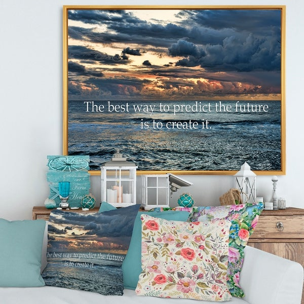 Designart 'The Best Way To Predict The Future Is To Create It' Nautical & Coastal Framed Canvas Wall Art Print. Opens flyout.