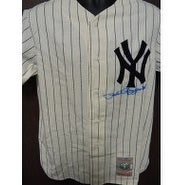 Signed Rizzuto Phil New York Yankees Cooperstown Yankees Jersey Size M Light Signature Bleeding int