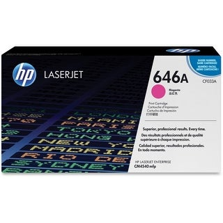 HP 646A Magenta Original LaserJet Toner Cartridge HP 646A (CF033A) Magenta Original LaserJet Toner Cartridge - Magenta - Laser -
