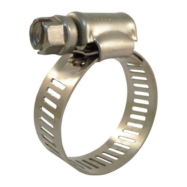 """Industro 1/2"""" to 1-1/4"""" Durable Stainless Steel Hose Clamps, Silver - 25 Pack"""