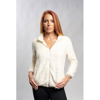 White Cozy Zip Up Jacket