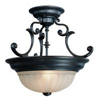 Dolan Designs 524 2-Light Down Light Semi-Flush Ceiling Fixture from the Richland Collection