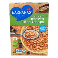 Barbara's Bakery Brown Rice Crisps - Fruit Juice Sweetened Cereal - Case of 6 - 10 oz.