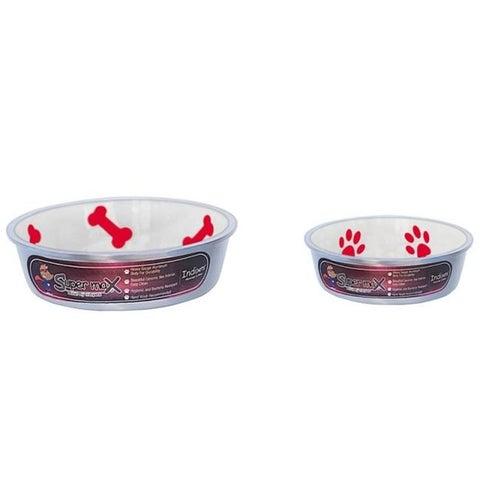 Super Max 800318 Medium Cat or Dog Bowls, Ivory - Set of 2