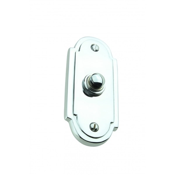 Colonial Door Bell Chrome Push Button Plate 4 H | Renovator's Supply