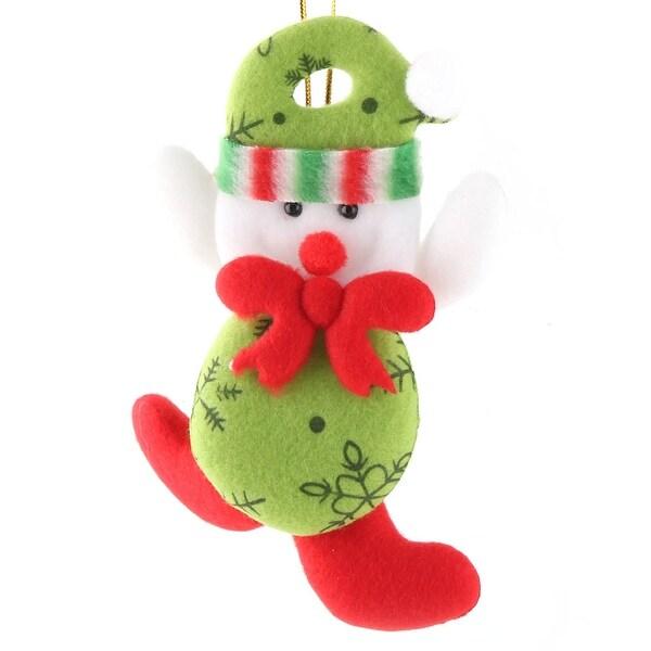 Festival Door Scarf Xmas Snowman Pendant Christmas Tree Ornament Multicolor