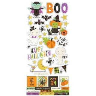 "Simple Sets Happy Halloween Cardstock Stickers 6""X12""-"