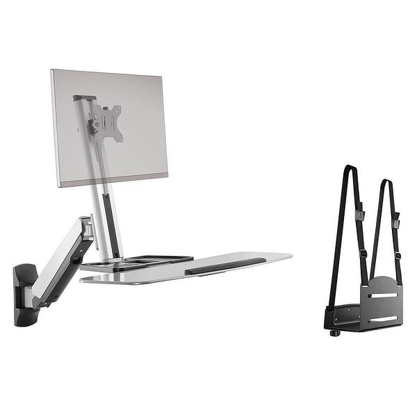 Ergotech Fdm-Stand-1 Single Freedom Sit-Stand Desk Workstation