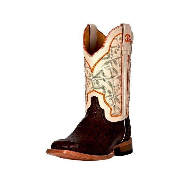 Cinch Western Boots Mens Edge Wild Caiman Print Chocolate