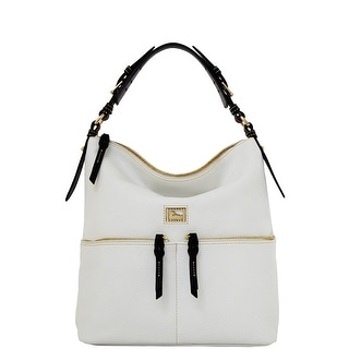 Dooney & Bourke Dillen Medium Zipper Pocket Sac (Introduced by Dooney & Bourke at $288 in Dec 2012) - White Black