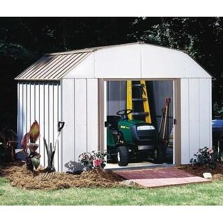 Arrow Lexington 10' W x 8' Galvanized Steel Storage Shed / LX108-A