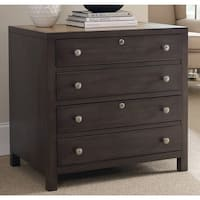 Hooker Furniture 5078-10466 31 Inch Wood 2 Drawers Hardwood Filing Cabinet from - chocolate gray - N/A