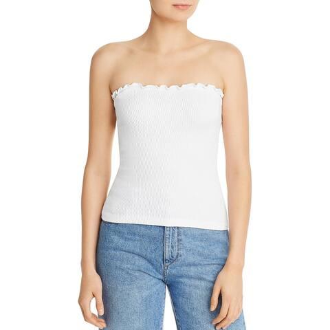 Aqua Womens Strapless Top Cropped Off-The-Shoulder - O/S