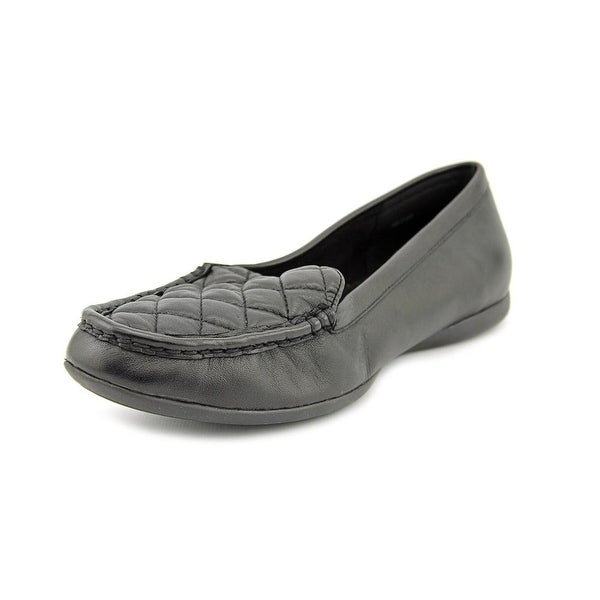 Bella Vita Mercedes Women N/S Moc Toe Leather Black Loafer