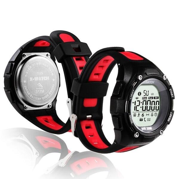Indigi® Rugged Sports Waterproof Bluetooth 4.0 X-Watch w/ Pedometer + Calorie Counter + Smart Alarm + Remote Shutter