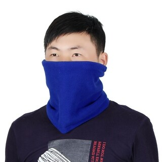 Adjustable Face Mask Winter Neck Tube Protector Outdoor Cycling Scarf Dark Blue