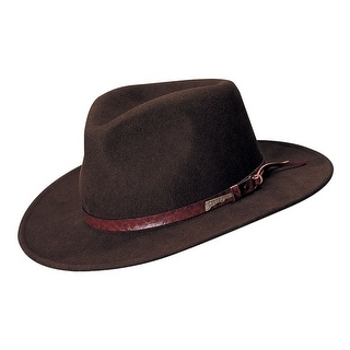 Dorfman Pacific Indiana Jones Outback Wool Hat