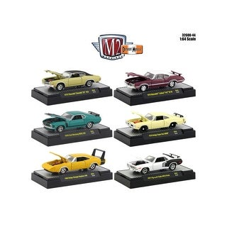 Detroit Muscle 6 Cars Set Release 44 IN DISPLAY CASES 1/64 Diecast Model Cars by M2 Machines
