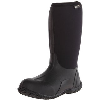"Bogs Boots Boys Kids 10"" Classic High Insulated Rubber WP Black 52063"