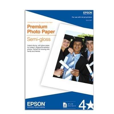 New - Premium Photo Paper, 68 Lbs., Semi-Gloss, 13 X 19, 20 Sheets/Pack - S041327