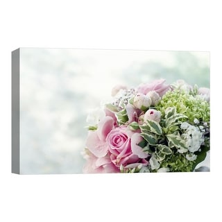 """PTM Images 9-124856  PTM Canvas Collection 8"""" x 10"""" - """"Weddings Bouquet"""" Giclee Roses Art Print on Canvas"""