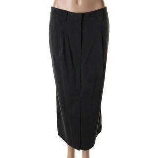 Catherine Malandrino Womens Crepe Pinktuck Straight Skirt - 4