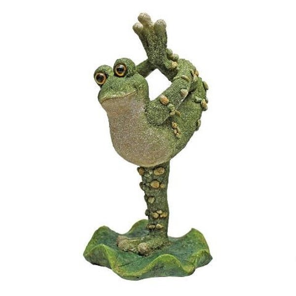 "10.5"" Twirling Around Outdoor garden leg Up Frog - N/A"