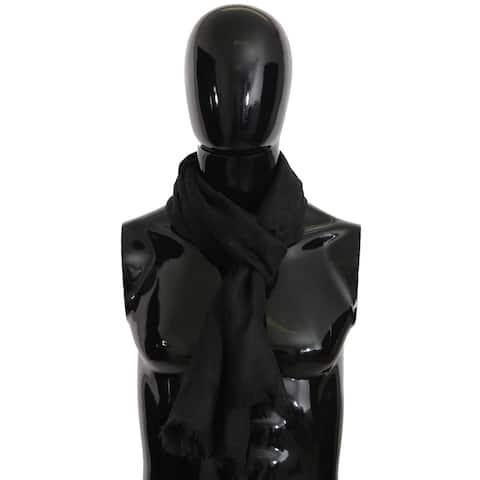 Dolce & Gabbana Gray Cashmere Pashmina Wrap Shawl 190cm x 80cm Men's Scarf - one-size
