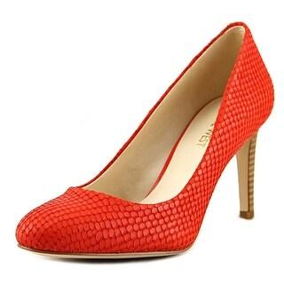 Nine West Hand Jive Women Round Toe Leather Orange Heels