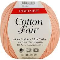 Premier Yarns Cotton Fair Solid Yarn-Coral