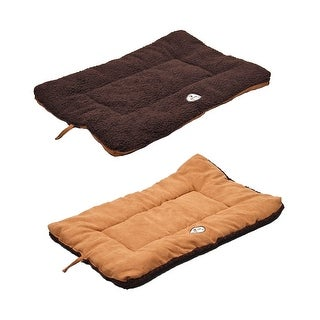 Eco-Paw Reversible Eco-Friendly Pet Bed, Brown And Cocoa, Medium