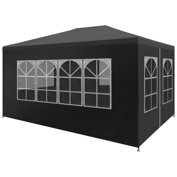 """vidaXL Party Tent 9'10""""x13'1"""" Anthracite Outdoor Canopies Pavilion Gazebo"""