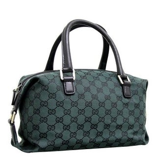 Gucci Dark Green GG Canvas Joy Boston Bag
