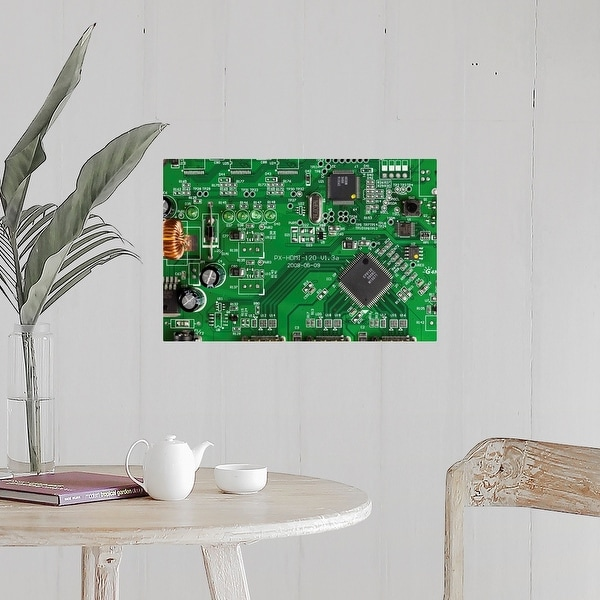 """Poster Print /""""A computer mother board full frame directly above/"""" close-up"""